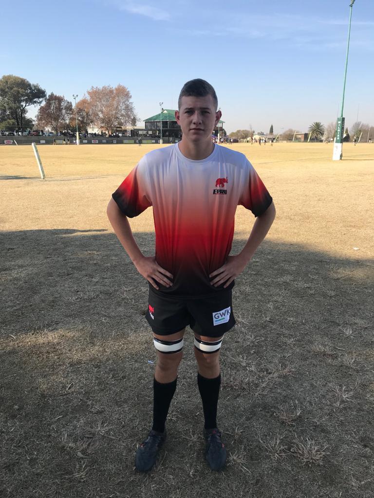Wessel van Dijk in his EPRU rugby outfit