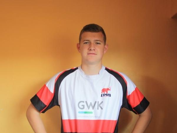 Wessel van Dijk in his EP rugby jersey