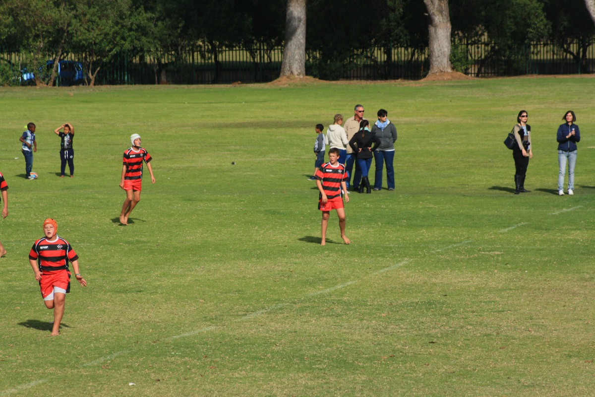 A young Wessel on the rugby field, fired up to play