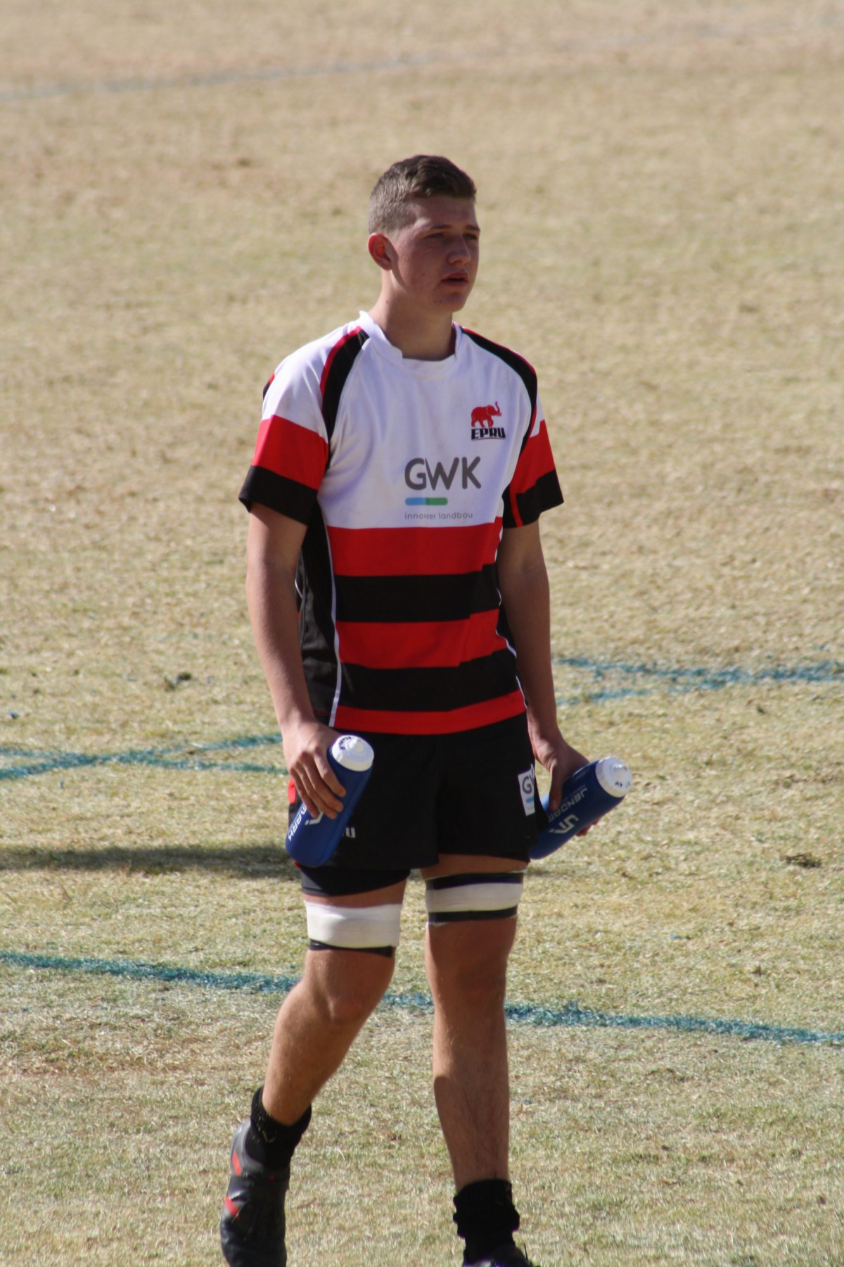 Wessel on the rugby field in his EP kit