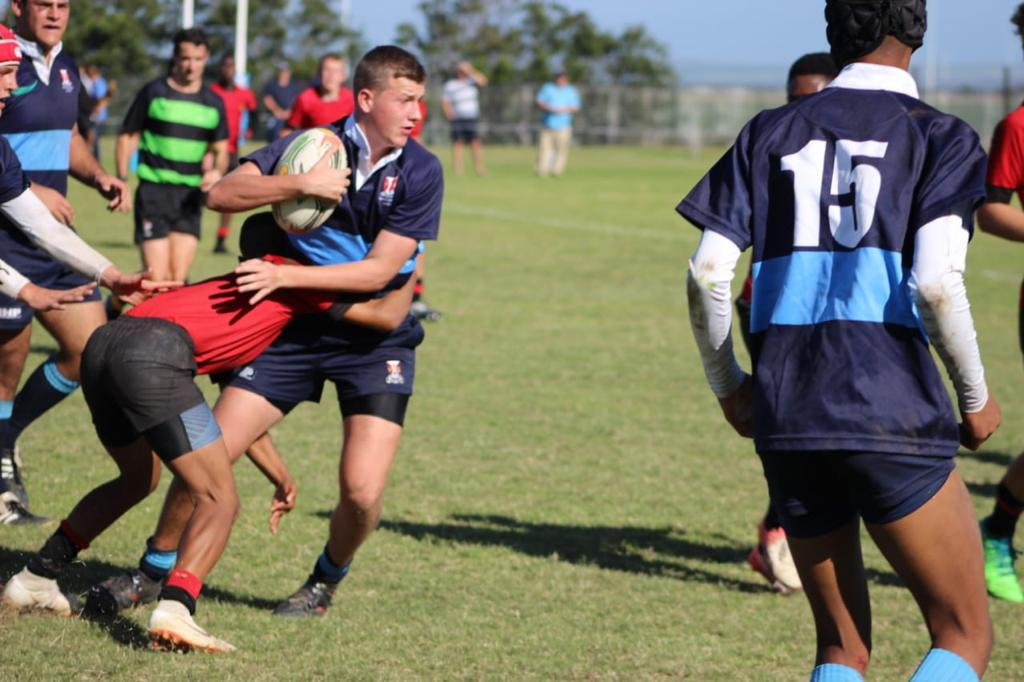 Wessel taking a tackle