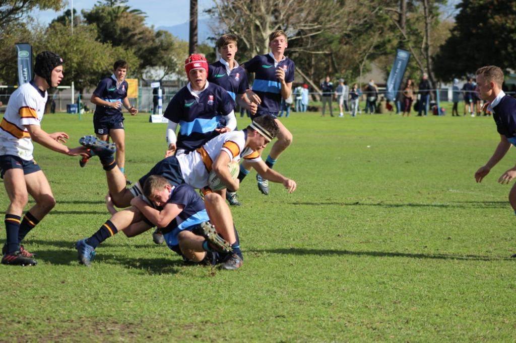 Wessel making a tackle